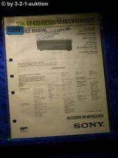 Sony Service Manual STR DE435 /DE535 /SE491 /V424 /V525 FM/AM Receiver (#5265)