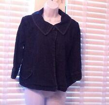 EUC, Women's Small Dark Wash Blue Jean Denim Maternity 3/4 Sleeve Jacket Coat