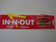 IN-N-OUT BURGER SO. CAL. VINTAGE DISCONTINUED, DOUBLE-DOUBLE BUMPER STICKER