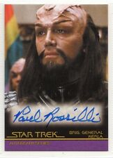 Star Trek Quotable Movies Autograph Card Paul Rossili/Brig General Kerla A87