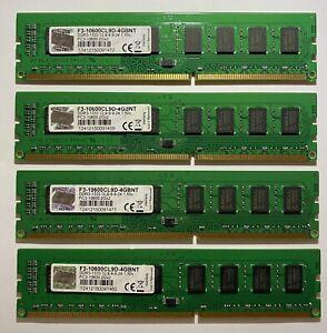 Lot Of (4) G.Skill (4GB) PC3-10600 2Gx2 (F3-10600CL9D-4GBNT)