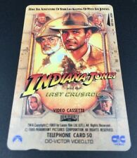 Indiana Jones And The Last Crusade Movie Promo Telephone Card 1989's Japan