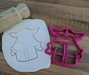 Baby Yoda Cookie Cutter Cake Fondant 3D Printed