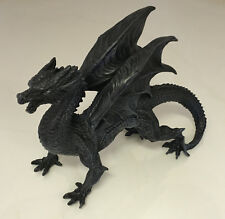 Black Standing Dragon Watcher Gift Ornament Large 31cm Gothic Statue Figurine