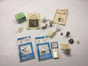 Vintage New And Used Dollhouse Miniature Lighting Lot