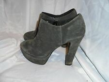 BERTIE WOMEN'S GREY SUEDE LEATHER PLATFORM Ankle Boots SIZE 6 EU 39 VGC
