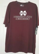 New! Men's Russell Athletic Mississippi Bulldogs Tshirt Black Size Xl