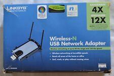 Cisco-Linksys WUSB300N Wireless-N USB Network Adapter + USB extension base (b25)