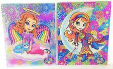 Lot of 2 Lisa Frank Multi-Colored 2-Pocket 3-Hole Punch School Folders (2002)