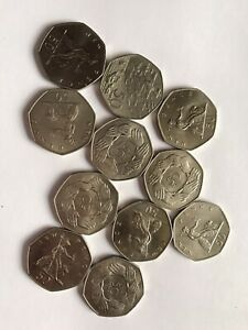 Gb 50 Pence Coins All Unc