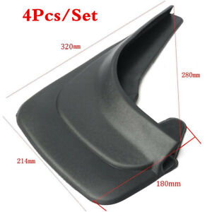 Universal 4pc Front Rear Car Truck Mud Flaps Splash Guards Mudflaps Fender Black
