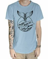 Whale Tail Tattoo Hipster Large Print Men's T-Shirt