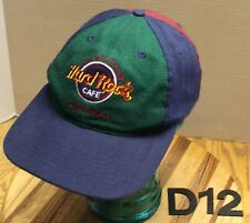 VINTAGE HARD ROCK CAFE ORLANDO HAT TRI-COLOR SNAPBACK ADJUSTABLE VGC D12