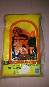 KENT Buoyant Life Vest Type II Child P.F.D U.S Coast Guard Approved Yellow Youth