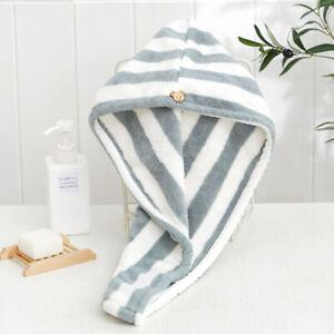 Dry Hair Hat Bath Shower Cap Fast Drying Hair Absorbent Towel Bath Wrap Turban
