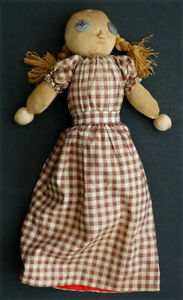ANTIQUE Vintage TOPSY TURVY Hand Made Primitive FOLK ART Sock Rag Doll