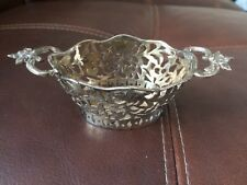 Antique Pierced Silver Sweet Dish - Eustace George Parker London 1896