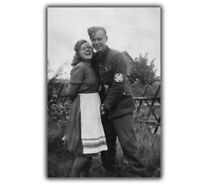 "War WW2 photo of a German soldier with a girl WW2 Glossy ""4 x 6"" inch E"