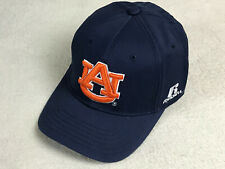 Russell Athletic Auburn University Tigers Embroidered Hat Dk Blue Flex Fit NEW