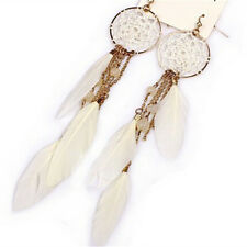 Bohemia Feather Beads Long Design Dream Catcher Earrings for Women jewelry ZFWH