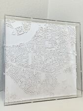 New listing Chisel Mouse Rome Map Carving England British City Sculpture Mid Century Era