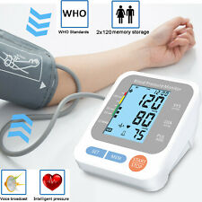 Blood Pressure Monitor Digital BP Cuff Pulse Heart Rate Automatic Machine Arm