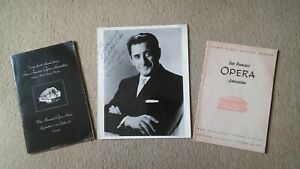 2 Programmes - San Francisco Opera Association and autographed photo Jan Peerce
