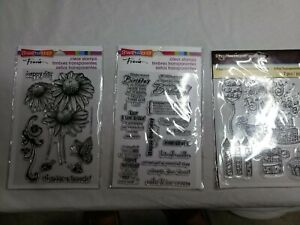 Clear Acrylic Stamp Set by Recollections and Stampendous NEW