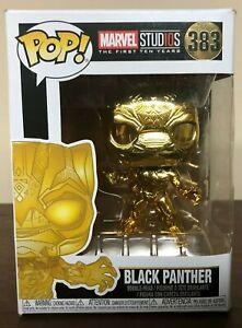 DAMAGED BOX Black Panther Chrome Marvel 383 10th Anniversary Funko Pop