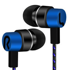 Universal 3.5mm In-ear Stereo Earbuds Earphone HIFI Mic for Samsung iPhone Cool Blue