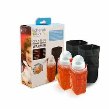 Cherub Baby Click N Go Reusable Instant Travel Bottle Warmer 4 plane car TWIN