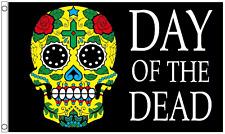 Day Of The Dead Dia De Muertos Colourful Calavera Sugar Skull 5'x3' Flag