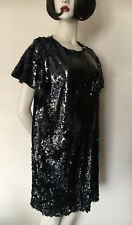Zara basic Black Sequin Dress, size UK14/16