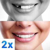 2x Temporary Tooth Repair Kit Temp Dental Repair Replace Missing - Make 24 Teeth
