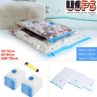 Large Small Vacuum Storage Bags Space Saving Clothes Home Travel Compressed Bag