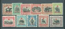 North Borneo 1918 Red Cross set to 24c c.d.s. used sg235-45 10c is sg.242a