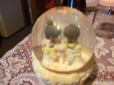 """Precious Moment Snow Globe & Music Box """"In the Good Old Summertime""""apx 5x4"""