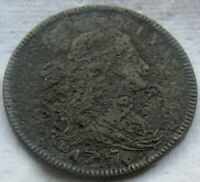 1797 1C BN Draped Bust Large Cent XF Detail Corroded
