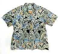 RJC Mens Size XL Button Up Shirt Hawaiian Aloha USA Made Floral
