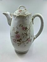 Carlsbad China Austria Porcelain hand painted coffee pot pink dogwood w gold