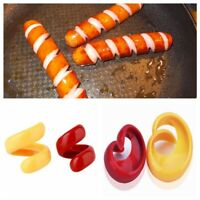 Auxiliary Gadget Slicer Hot Dogs Sausage Cutter Spiral Manual Fancy Barbecue