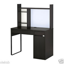 IKEA MICKE Desk Table Computer Work Station Storage Black Brown 499.267.49