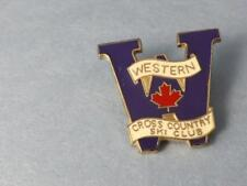 WESTERN UNIVERSITY CROSS COUNTRY SKI CLUB PIN VINTAGE CANADA COLLECTOR BUTTON