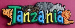 Souvenir Fridge Magnet Tanzania All The Wildlife