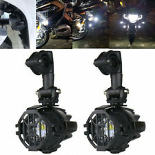 2X LED Fog Auxiliary Lights + Protector Covers for BMW R1200GS R1100GS F800GS