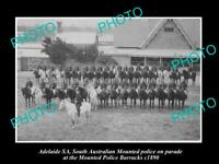 OLD 8x6 HISTORIC PHOTO OF ADELAIDE SOUTH AUSTRALIA MOUNTED POLICE PARADE 1890