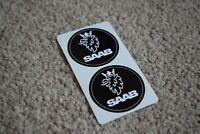 SAAB Sport Racing Rally Motorsport Race Car Decal Stickers Logo Black 100mm