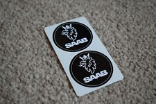 SAAB Sport Racing Rally Motorsport Race Car Decal Stickers Logo Black 50mm