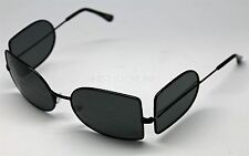 SHADOWS COSPLAY DEPP VAMPIRE HUNTER WRAP AROUND SUNGLASSES DARK LENS BLACK FRAME
