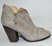 CELEBS!! $550+ rag & bone MARGOT Ankle Boot Bootie WAXED SUEDE Leather 39.5 GREY